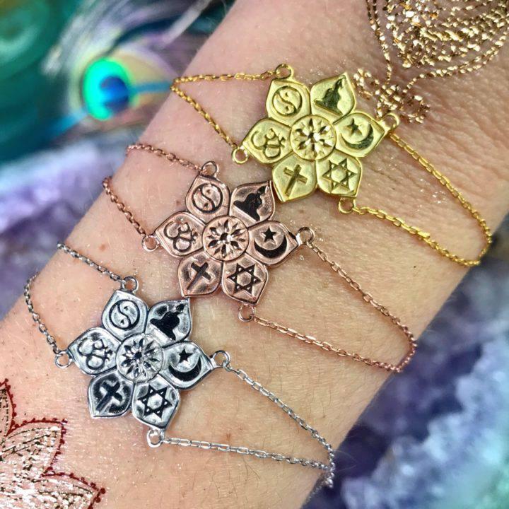 Coexist in Harmony Sterling Silver Bracelets