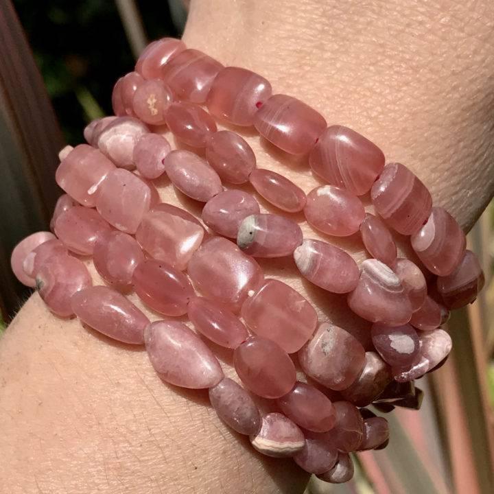 Compassion and Kindness Rhodochrosite Bracelets