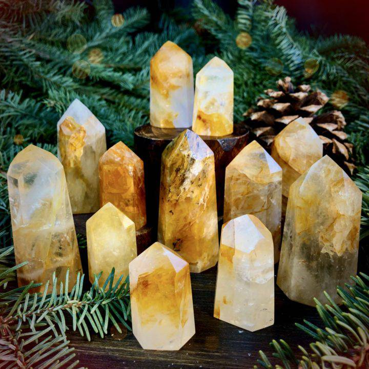 Confident Empowerment Golden Healer Quartz Generators