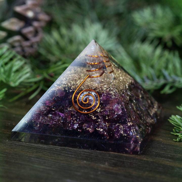 I Am Safe Garnet Orgonite Pyramids