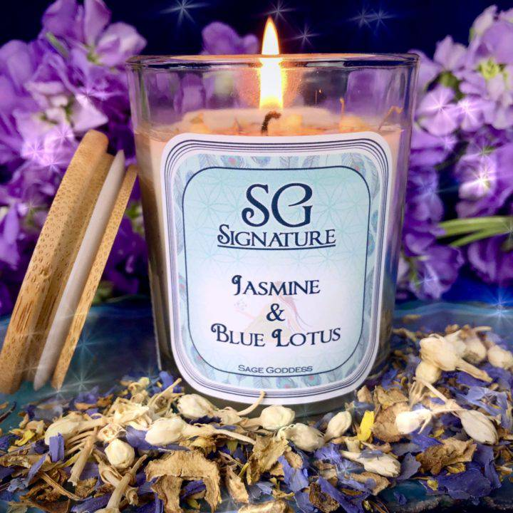 SG Signature Jasmine and Blue Lotus Intention Candles