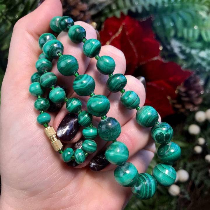 Maternal Lineage Healing Malachite Necklaces