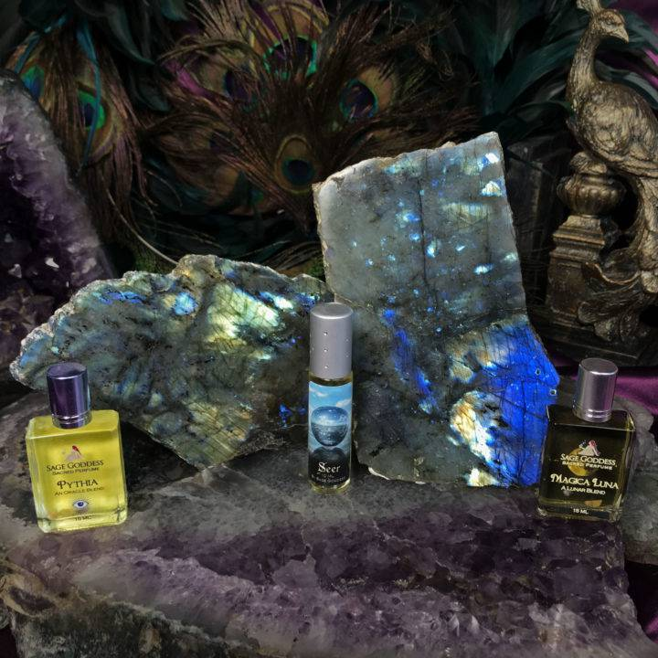 New Beginnings Labradorite Charging Plates with Intuitively Chosen Perfume