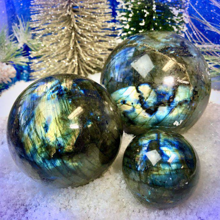 New Year Intentions Labradorite Spheres