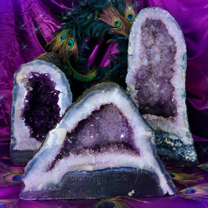 Peace and Balance Amethyst Cathedrals