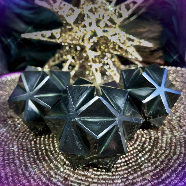 Black Onyx 3D Metatron's Cubes