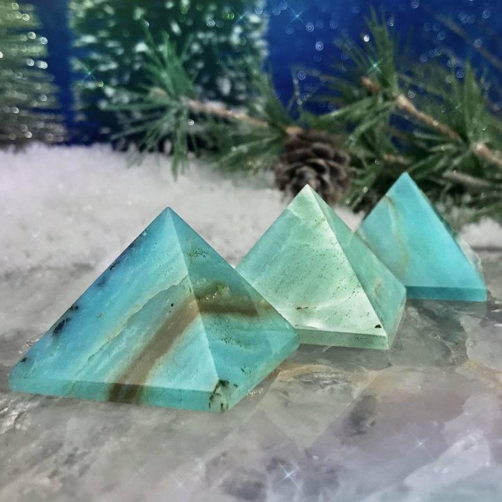 Speak Your Truth Amazonite Pyramids