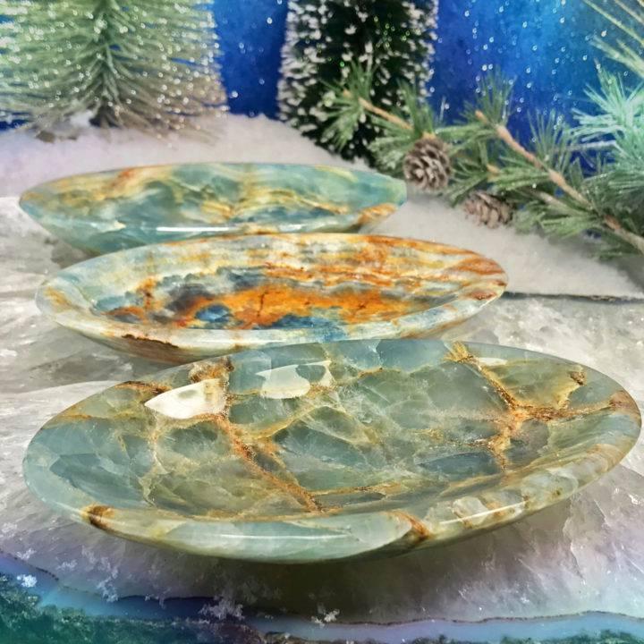 Spiritual Ascension Lemurian Blue Calcite Bowls