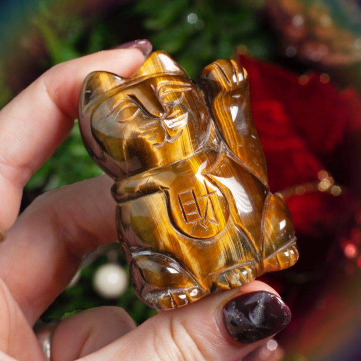 Tiger's Eye Lucky Cats