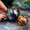 Titanium Aura Tiger's Eye Strength and Strategy Spheres