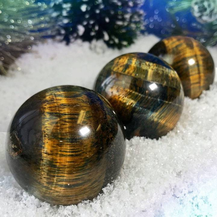 Blue Tiger's Eye Spheres