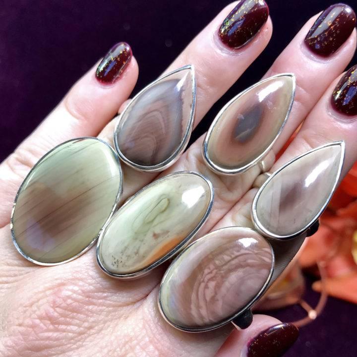 Imperial Jasper Adjustable Rings