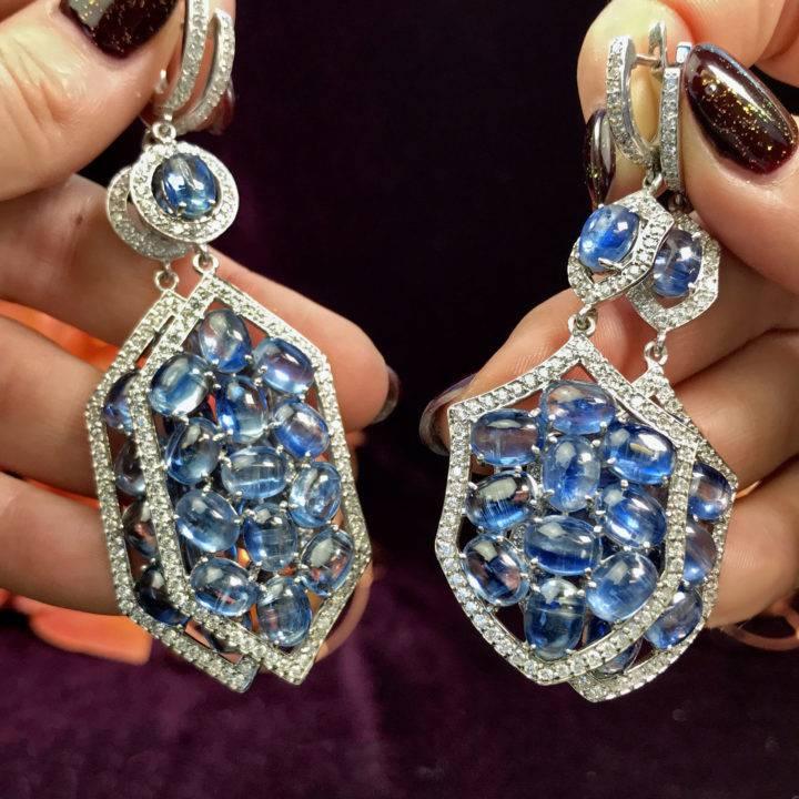 Tumbled Kyanite Earrings