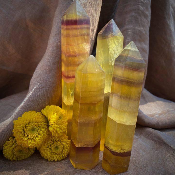 Abundance Attracting Yellow Fluorite Generators