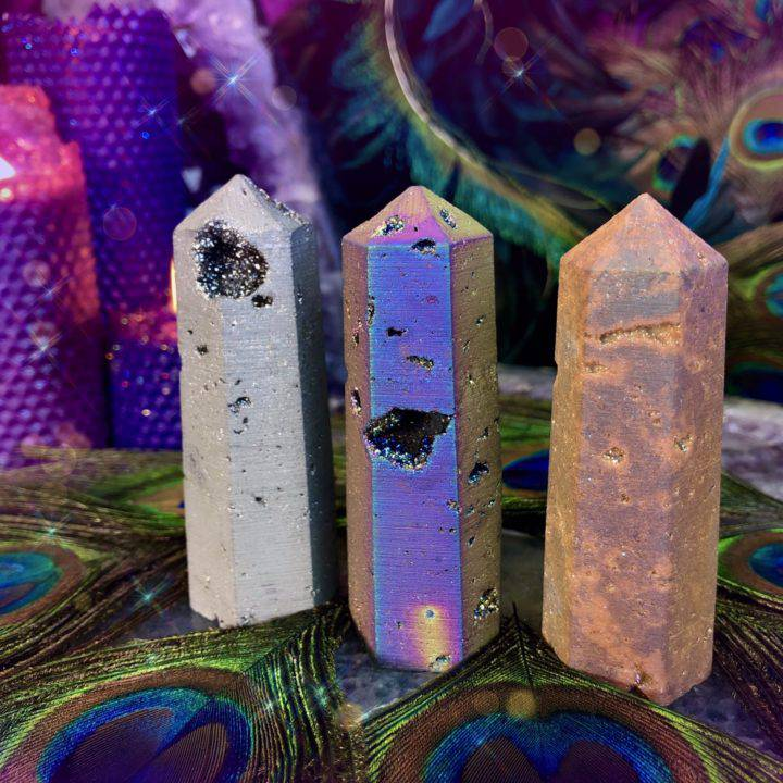 Amplified Healing Aura Druzy Quartz Generators