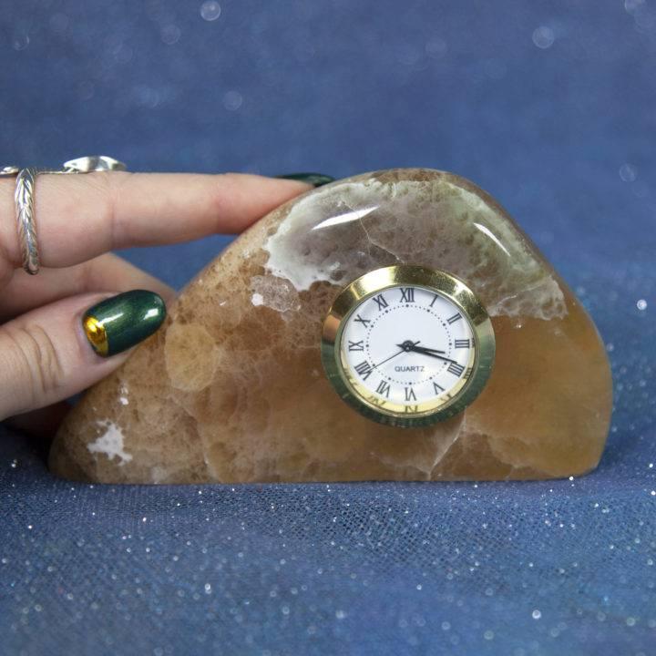 Argentinian Yellow Fluorite Clock