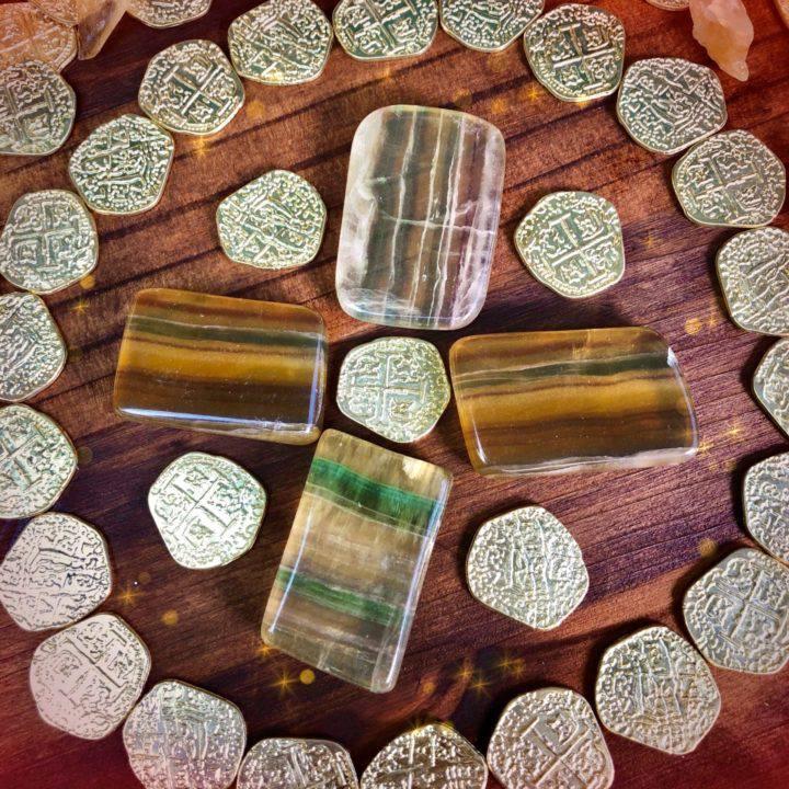Argentinian Yellow Fluorite Prosperity Slices