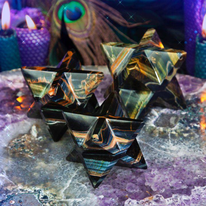Blue Tigers Eye Priestess Merkabas