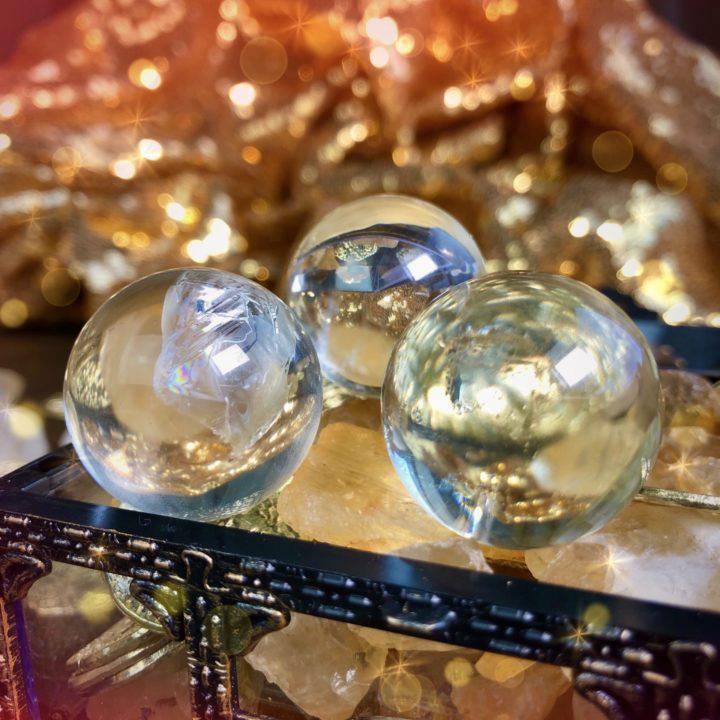 Citrine Sphere and Via Perfume Prosperity Duo