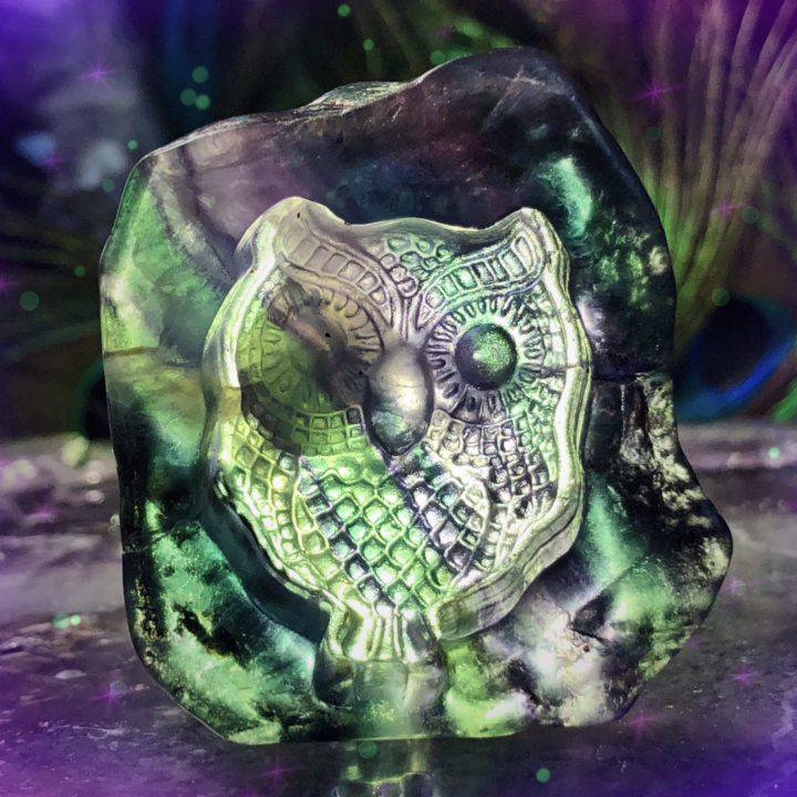 Cutie Pie Magical Rainbow Fluorite Owls
