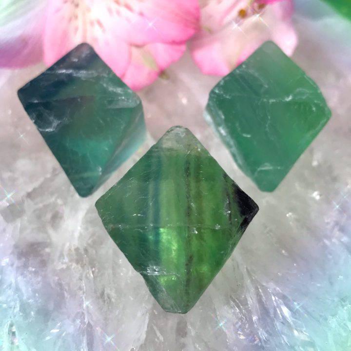 Diamond Code Fluorite Octahedrons