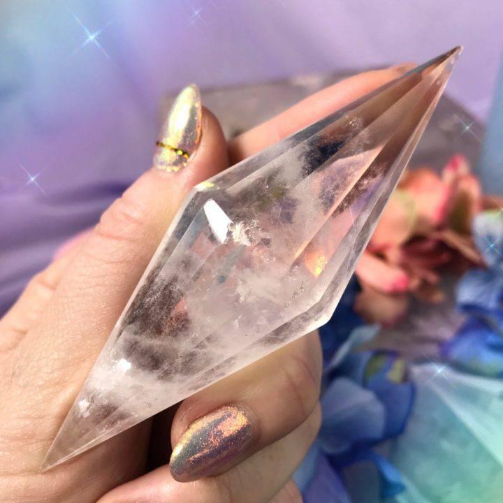 Double Terminated Clear Quartz Extractor Diamonds