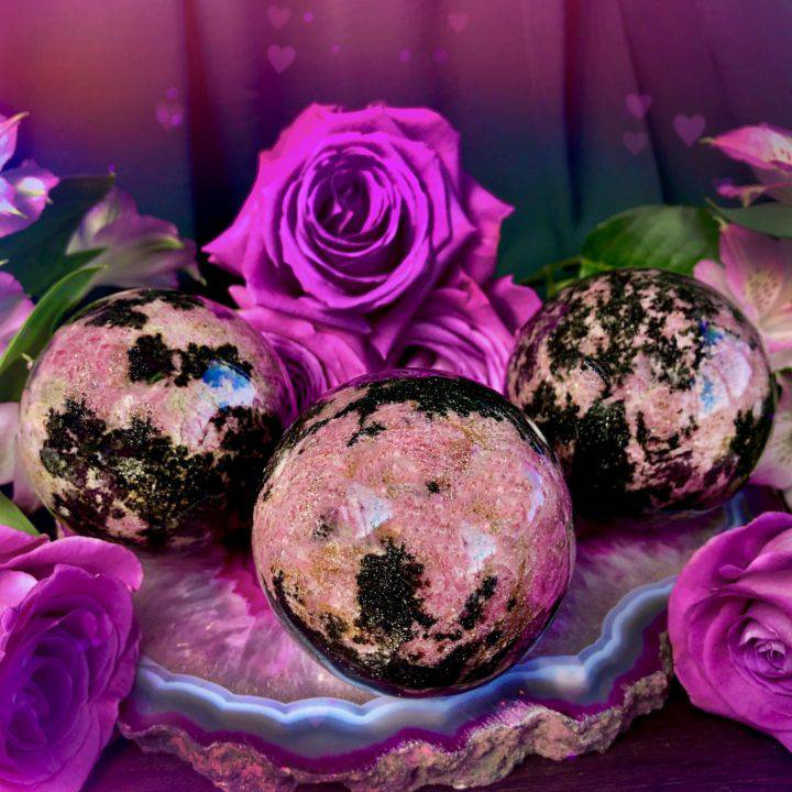 Emotional Balancing Rhodonite Spheres