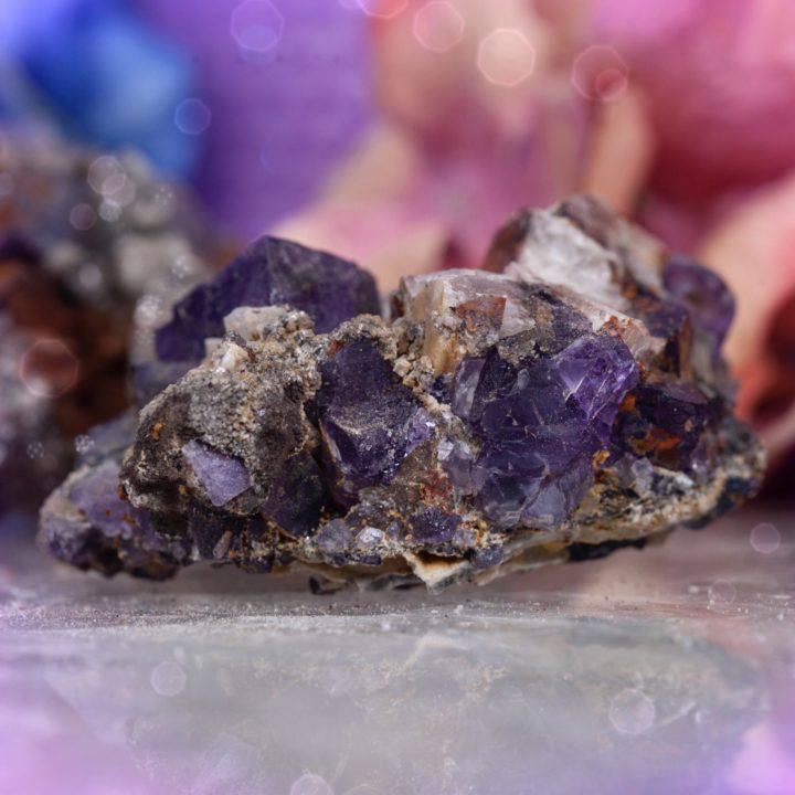 Grounded Soul Pathing Purple Fluorite on Limonite