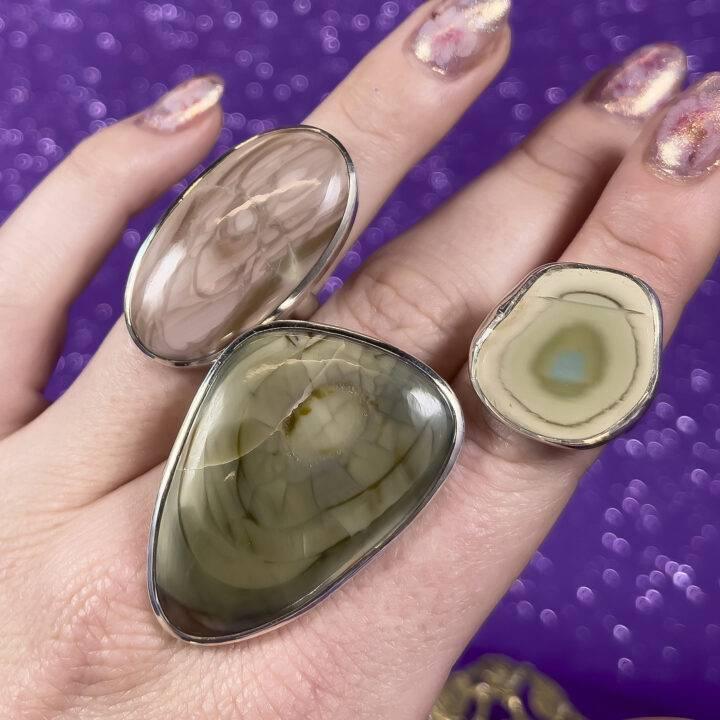 Imperial Jasper Adjustable Ring