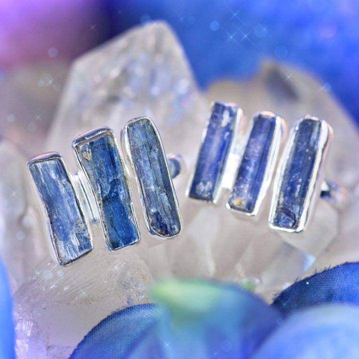 Intuition and Alignment Blue Kyanite Rings