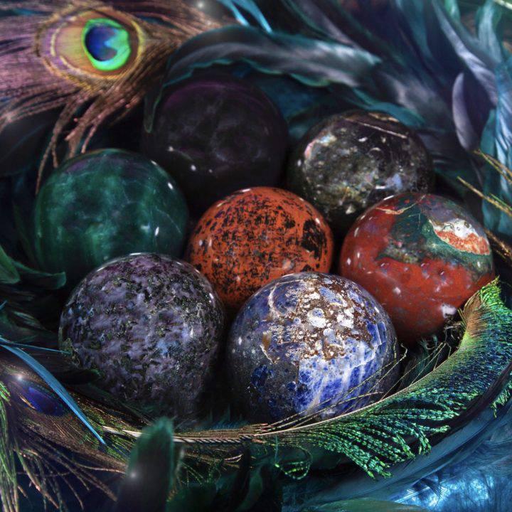Intuitively Chosen Gemstone Spheres