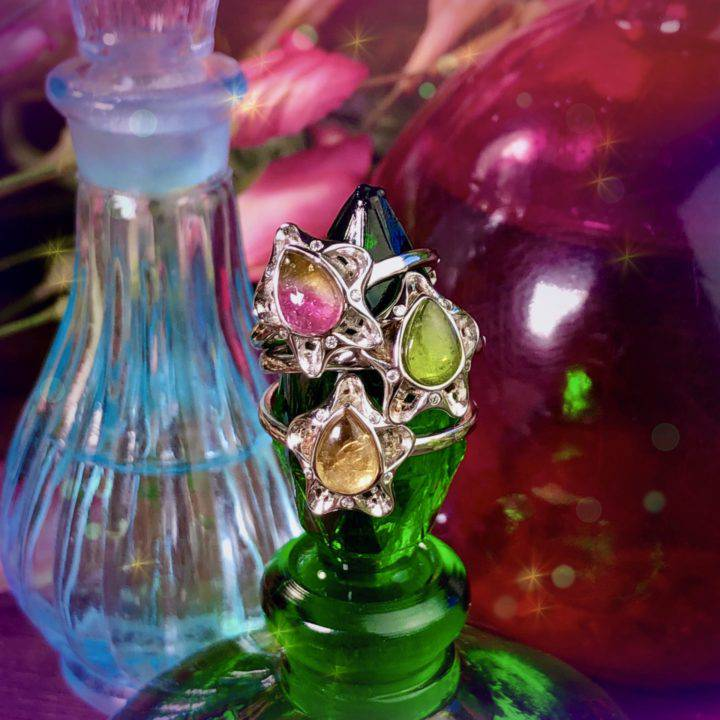 Intuitively Chosen Healing Tourmaline Rings