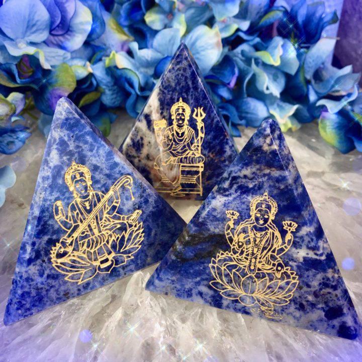 Lakshmi Parvati and Saraswati Sodalite Tetrahedrons