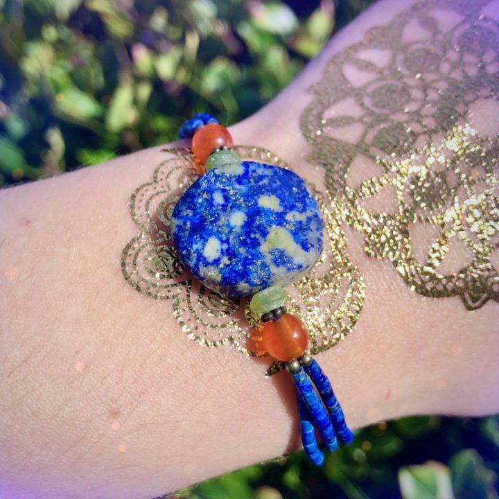 Lapis and Carnelian Empowerment Bracelets