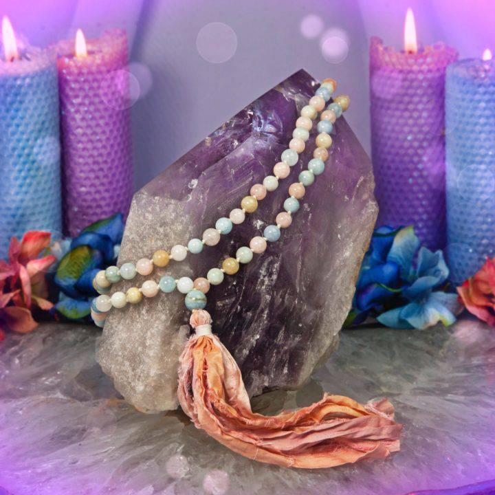 Love Draw Morganite and Aquamarine Prayer Malas