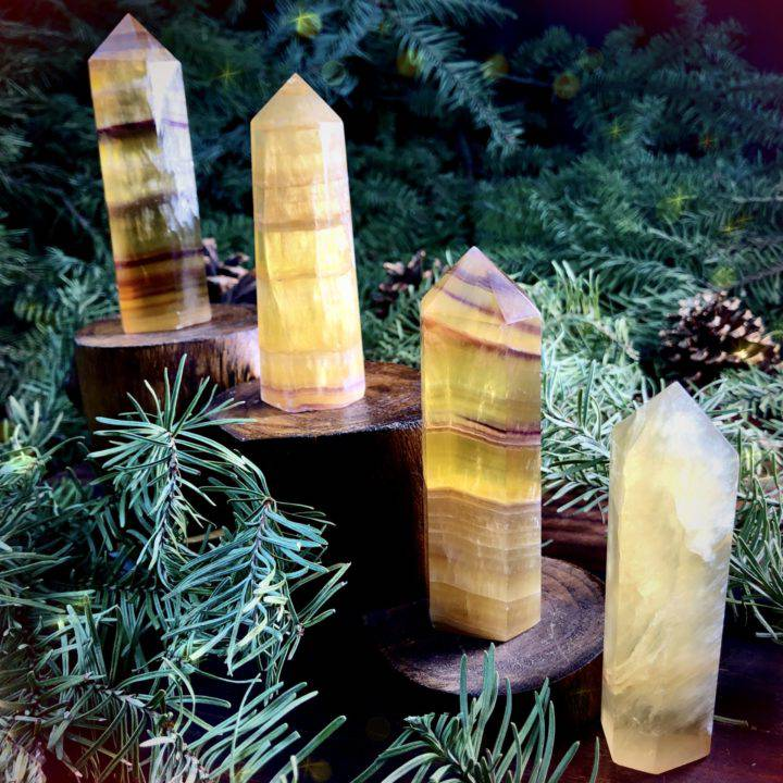 Manifestation and Attraction Yellow Fluorite Generators