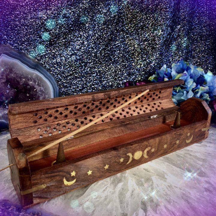 Moon Magic Wooden Incense Burners