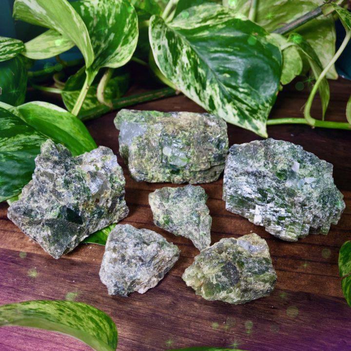 Natural Green Tourmaline in Quartz