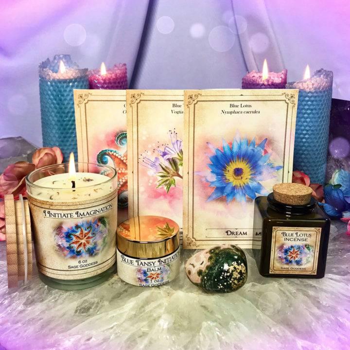 New Moon Enchanted Plant Wisdom: Blue Lotus and Blue Tansy Set
