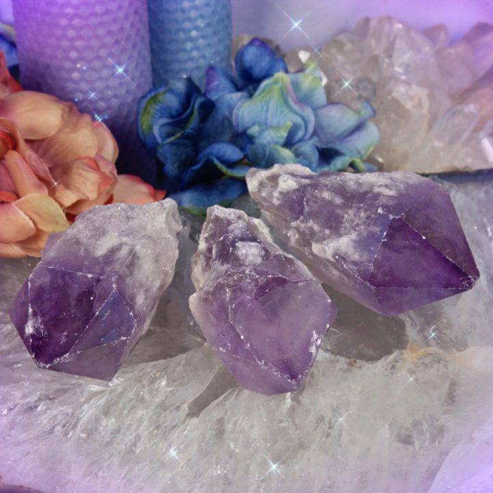 Peace and Purification Amethyst Points