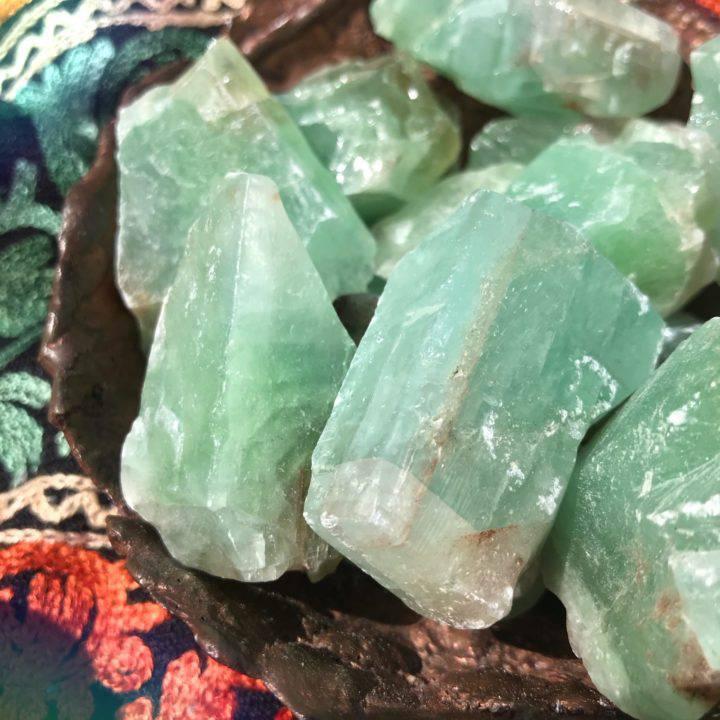 Peaceful Healing Natural Green Calcite