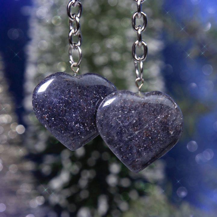 Peaceful Heart Blue Aventurine Keychains