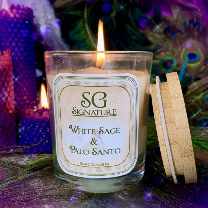 SG Signature White Sage and Palo Santo Intention Candles