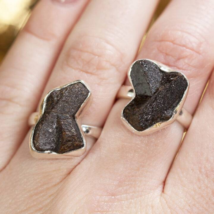 Staurolite Adjustable Ring Sterling Silver