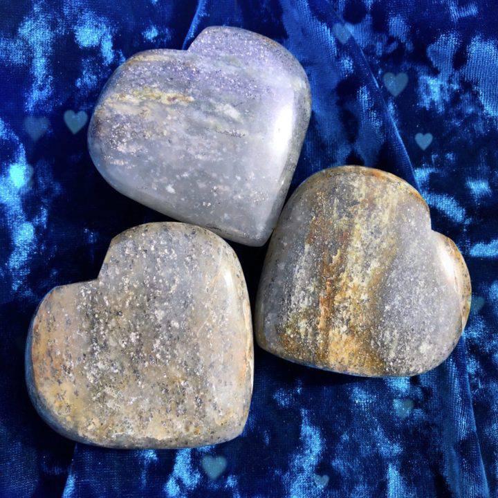 Silver Aventurine Hearts