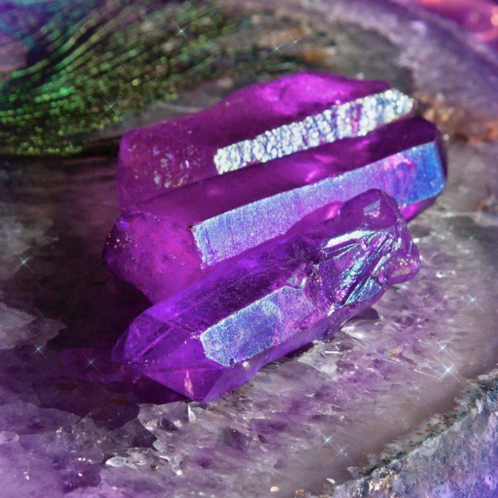 Violet Ray Aura Quartz Wands