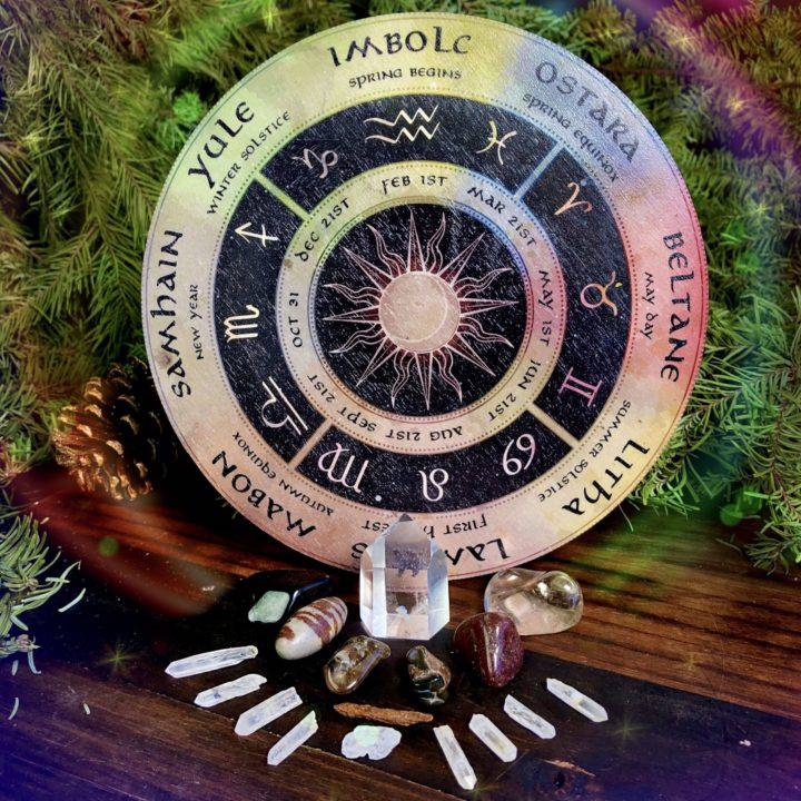Wheel of the Year Gemstone Grid