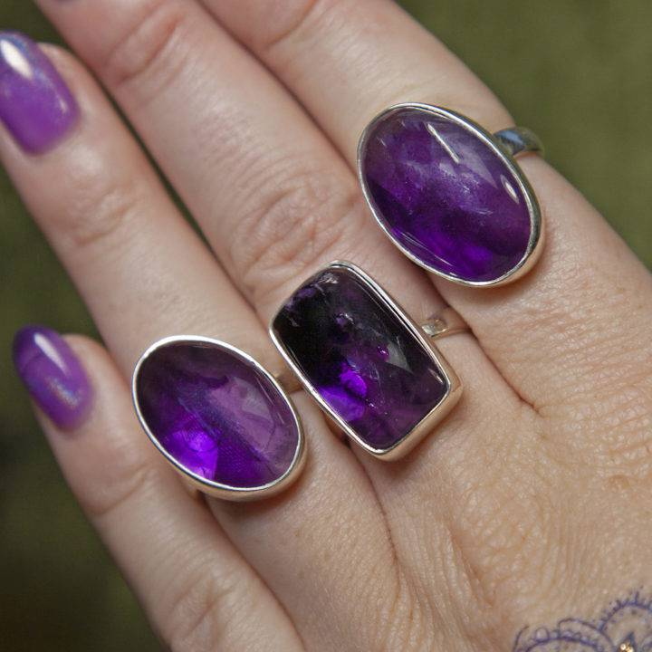 Trapiche Amethyst Ring Medium