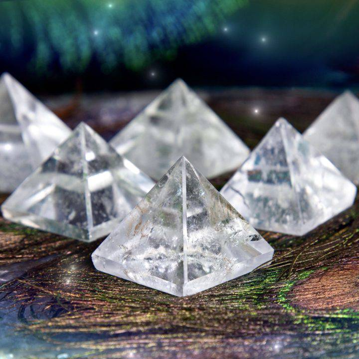 Clear Quartz Power Pyramids
