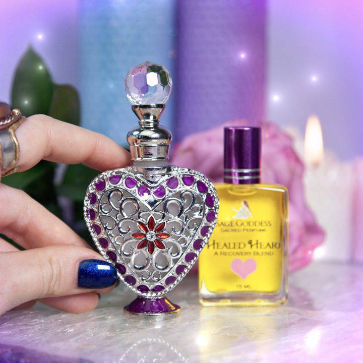 Collectors Heart Perfume Bottle with Healed Heart Perfume